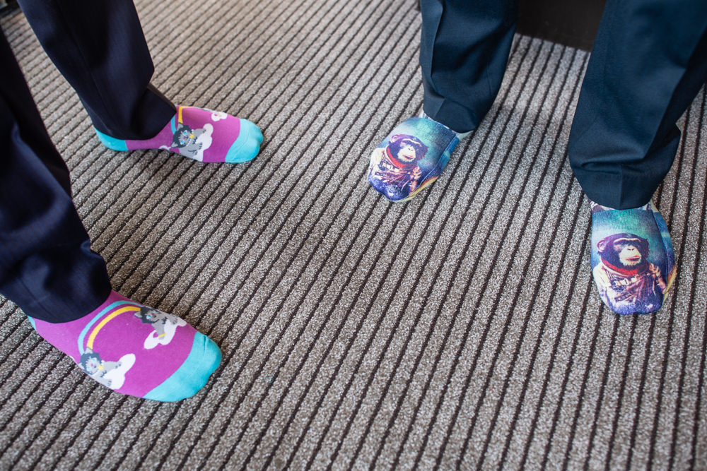 Fun wedding socks