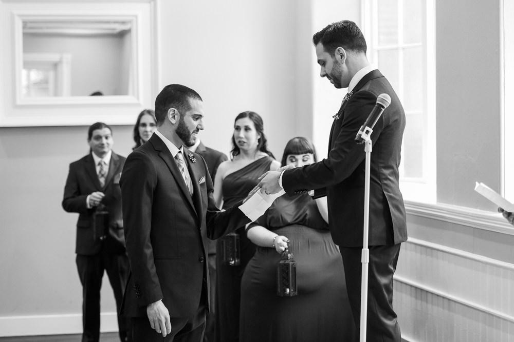 black and white ceremony photos