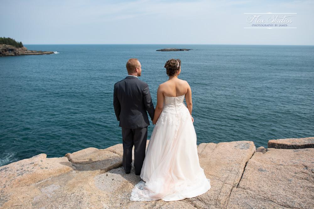 Wedding photos by the ocean
