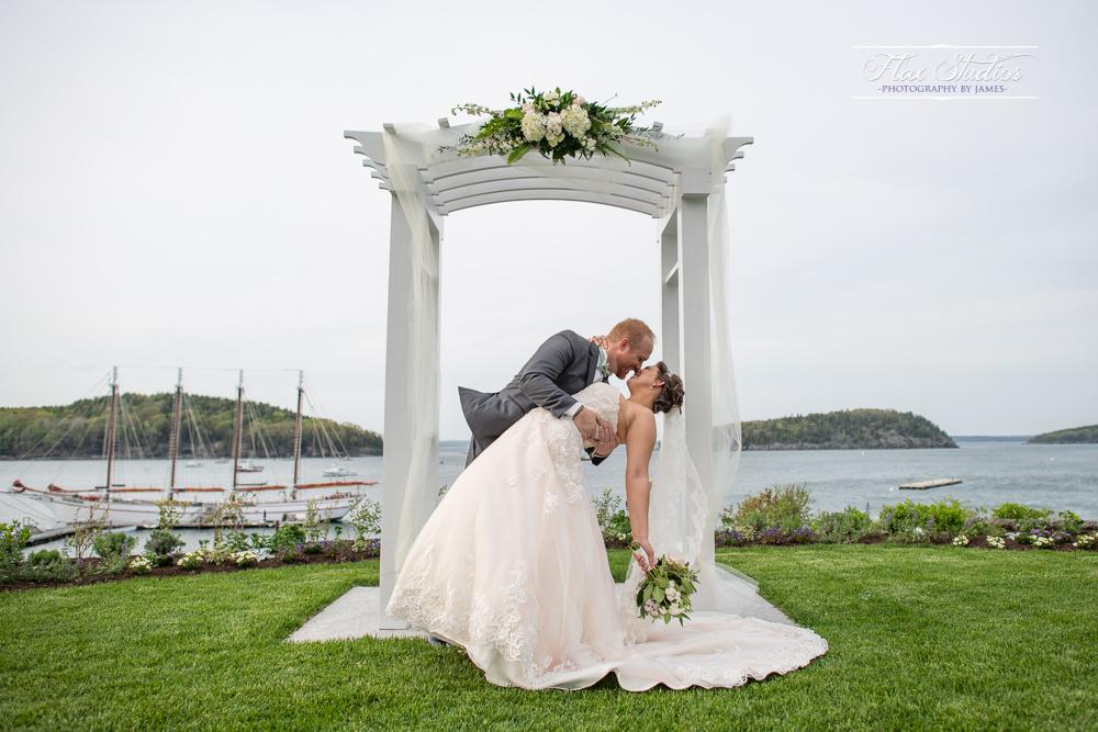 Bar harbor inn wedding arbor