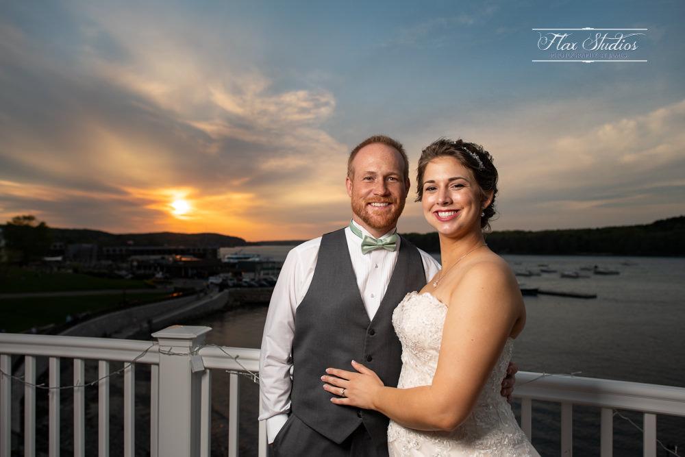 Bar Harbor Inn Wedding Sunset Photos Flax Studios