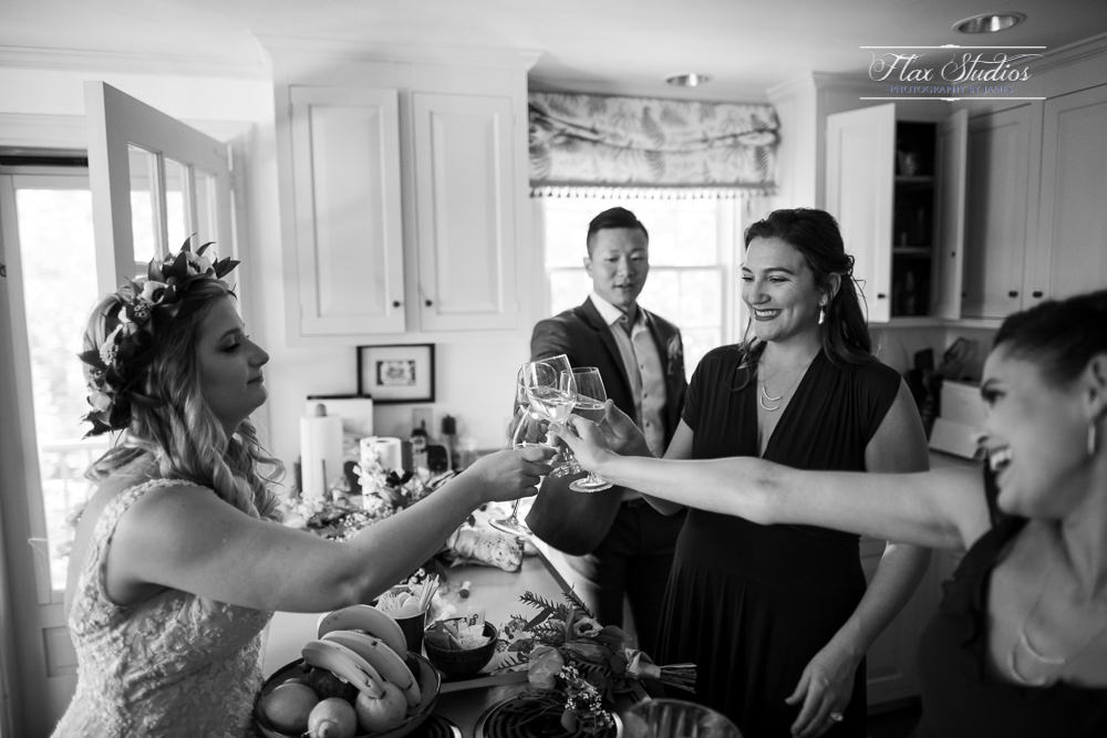 Toasting after the ceremony