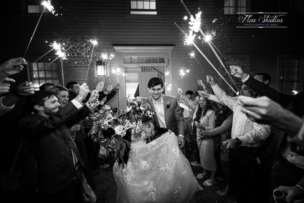 sparkler exit wedding photos Maine weddings