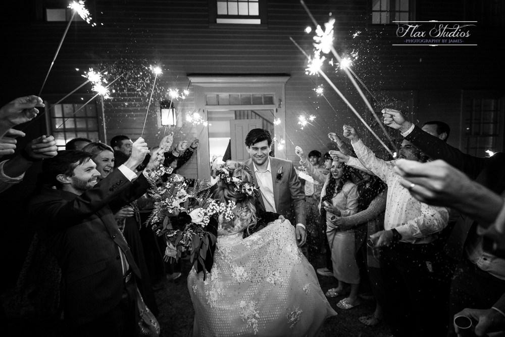 sparkler exit wedding photos Maine weddings