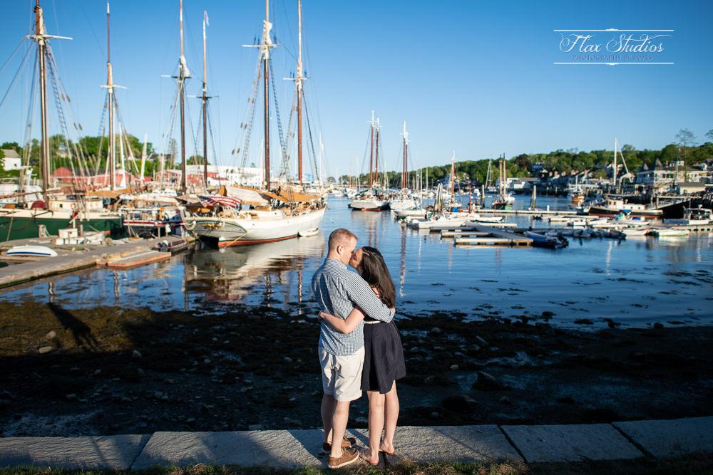 Camden Maine Engagement Harbor Photos