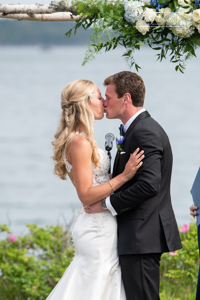 first kiss at the end of the ceremony