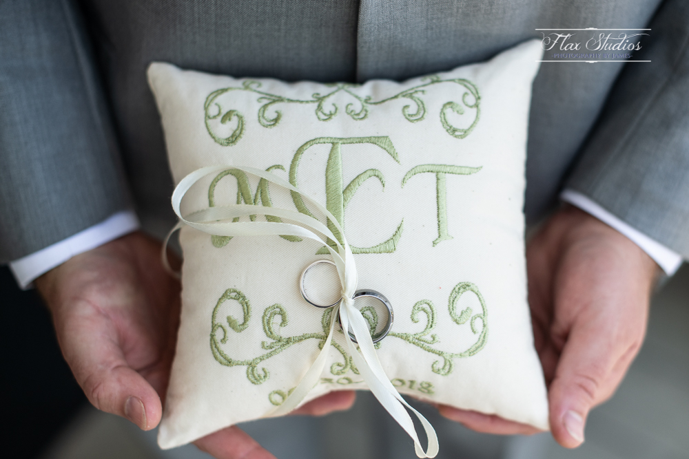 homemade wedding ring pillow