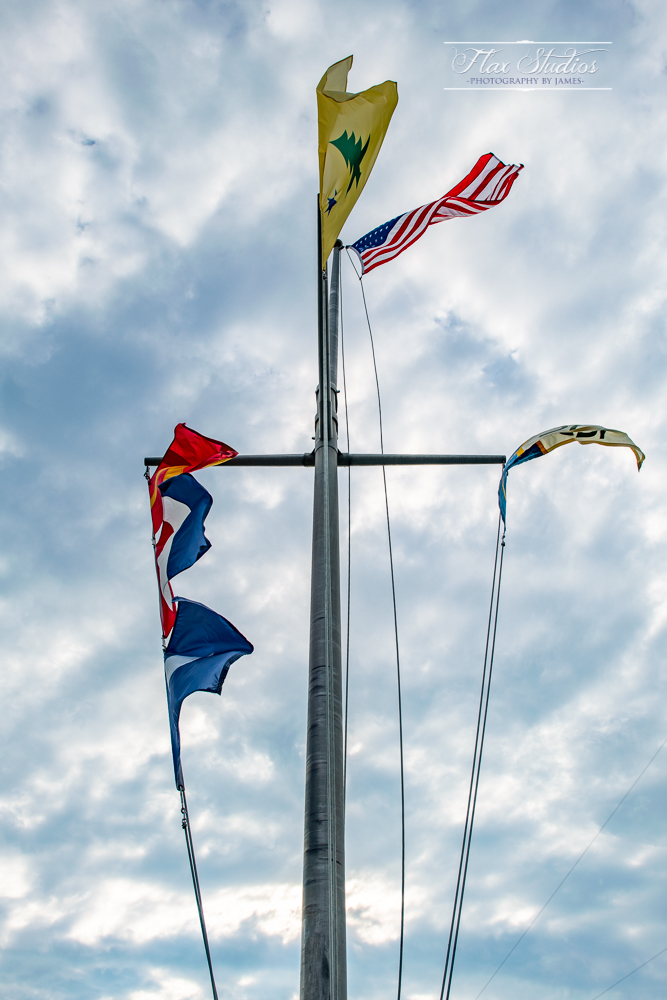 Spruce Point Inn flags
