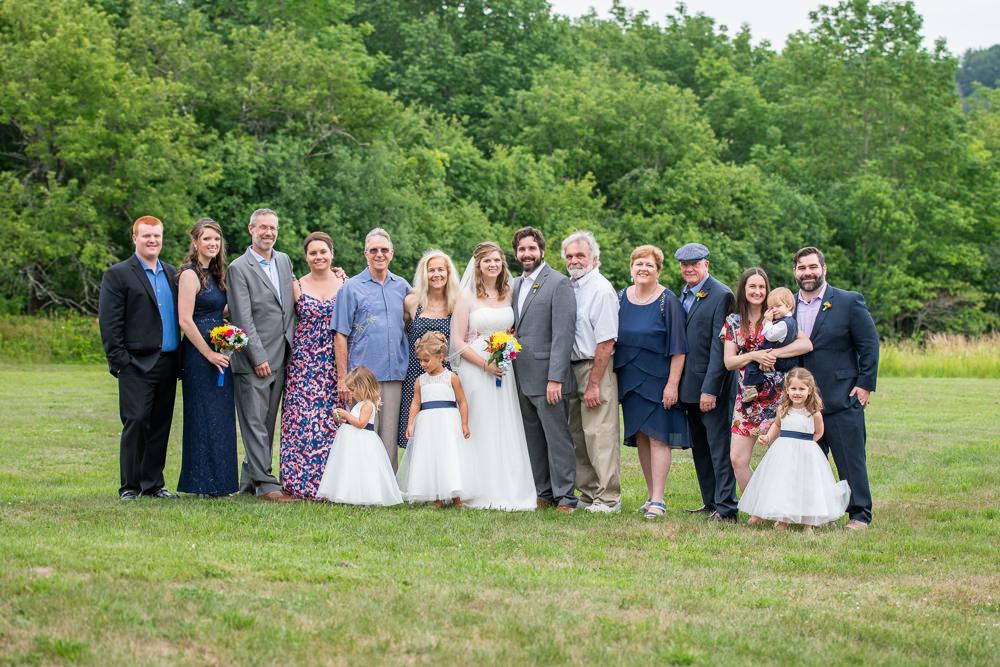 large group wedding photo