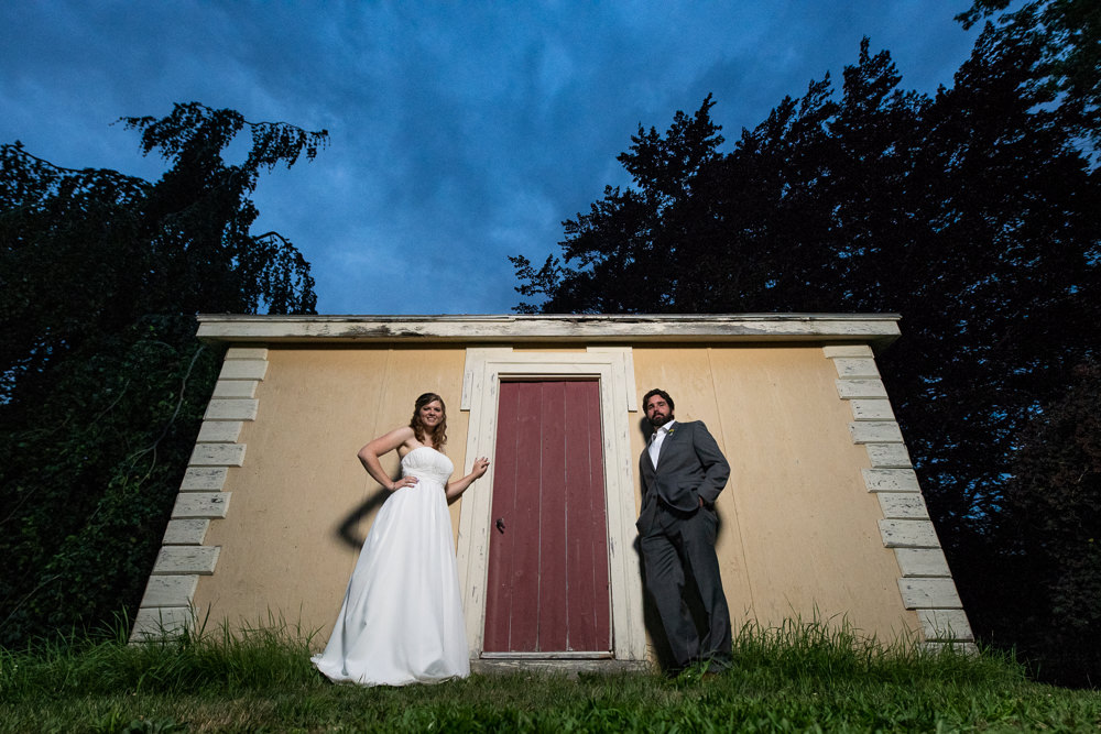 end of the day wedding photos