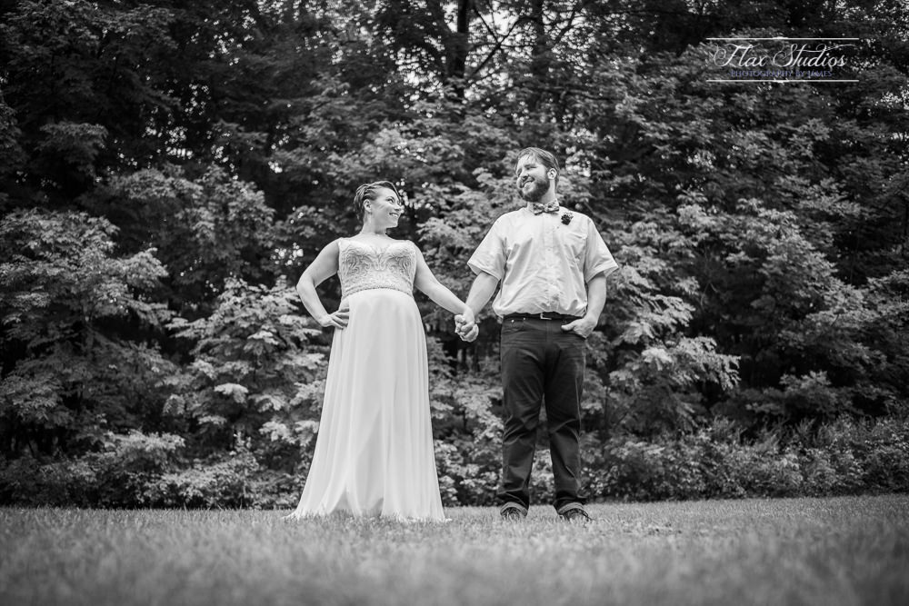 black and white wedding portraits