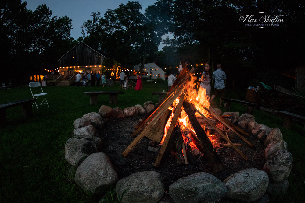 having a campfire wedding in maine
