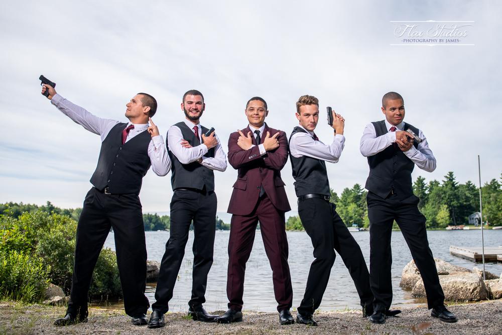 wedding photos with firearms