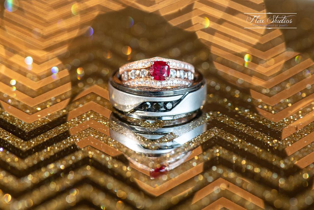 wedding ring macro details