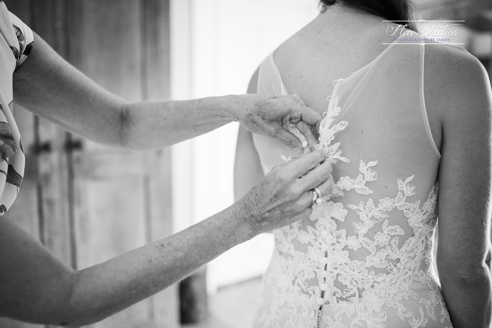 how to button up a wedding dress