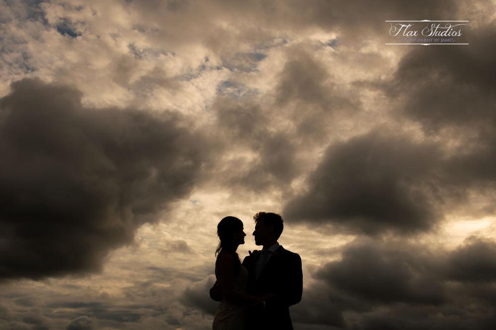 Sunset Silhouette Wedding Photo Flax Studios