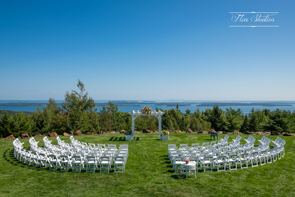 Point Lookout Summit Wedding Chairs Set Up