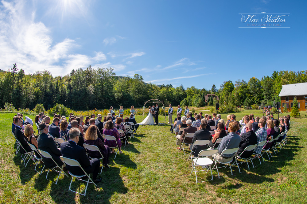 Outdoor newry Maine wedding ceremony site
