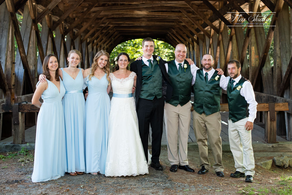 Covered bridge bridal party