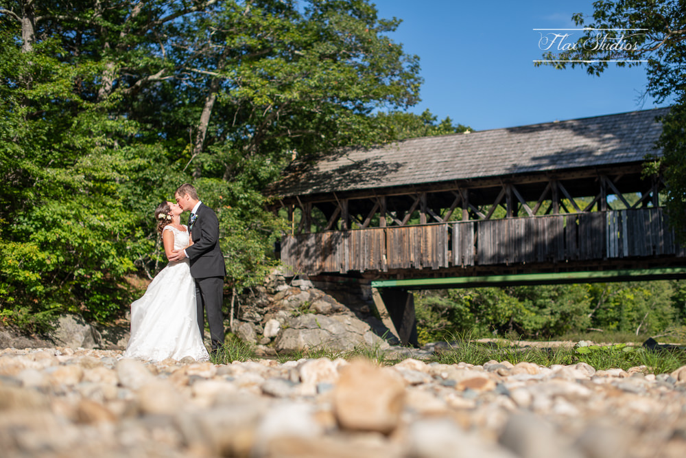 Sunday River covered bride wedding photographers flax studios