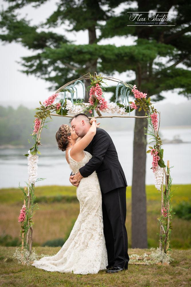homemade wedding arbors