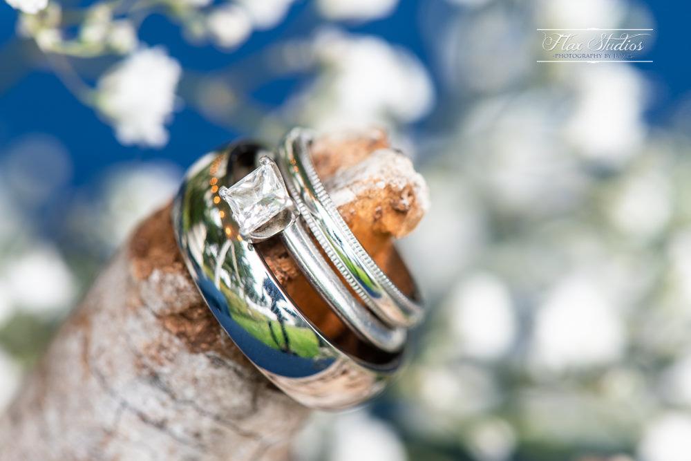 Wedding ring macro photos