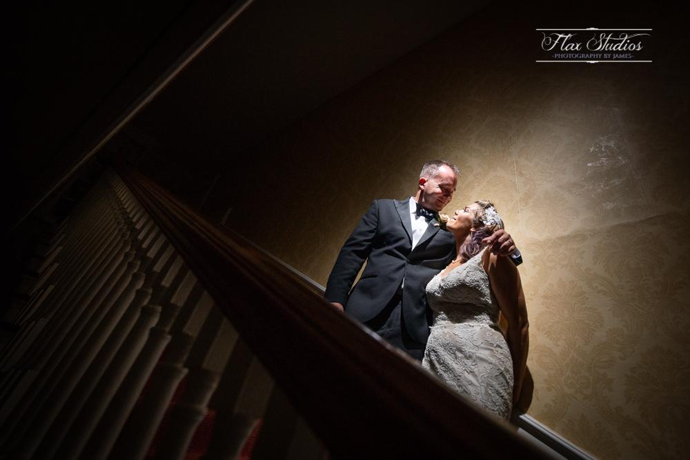 off camera flash wedding portraits