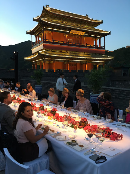 After an exhausting walk along the ancient walkways of the historic Great Wall of China, Rusk and I enjoyed an exclusive private alfresco dinner prepared by Peninsula culinary team atop the Great Wall.
