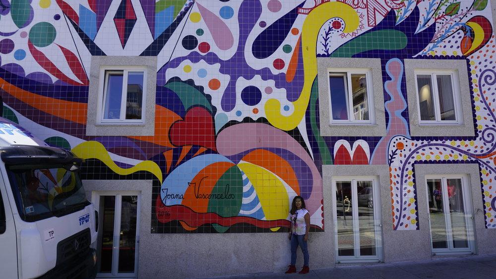 Mural by Portuguese Artist Joana Vasconcelos in Parque Da Cidade do Porto