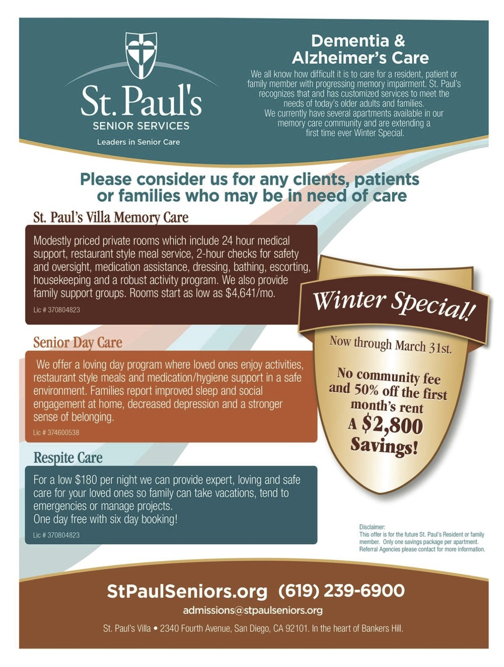 St Pauls Memory Care specials for Winter 2015.jpg