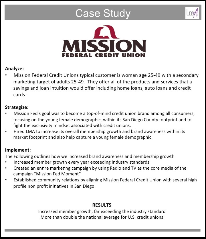 Mission Federal Credit Union Case Study