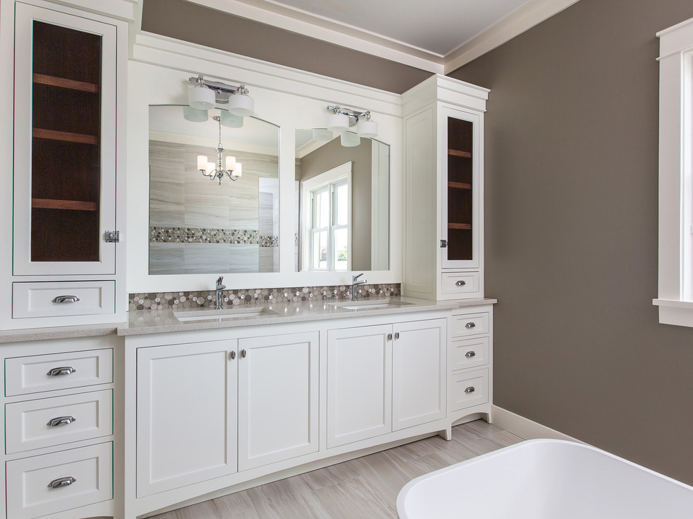 Exquisite Master Baths with Custom Cabinetry