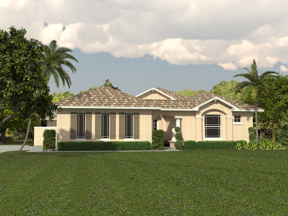 3-D Rendering. Home in Permitting process.