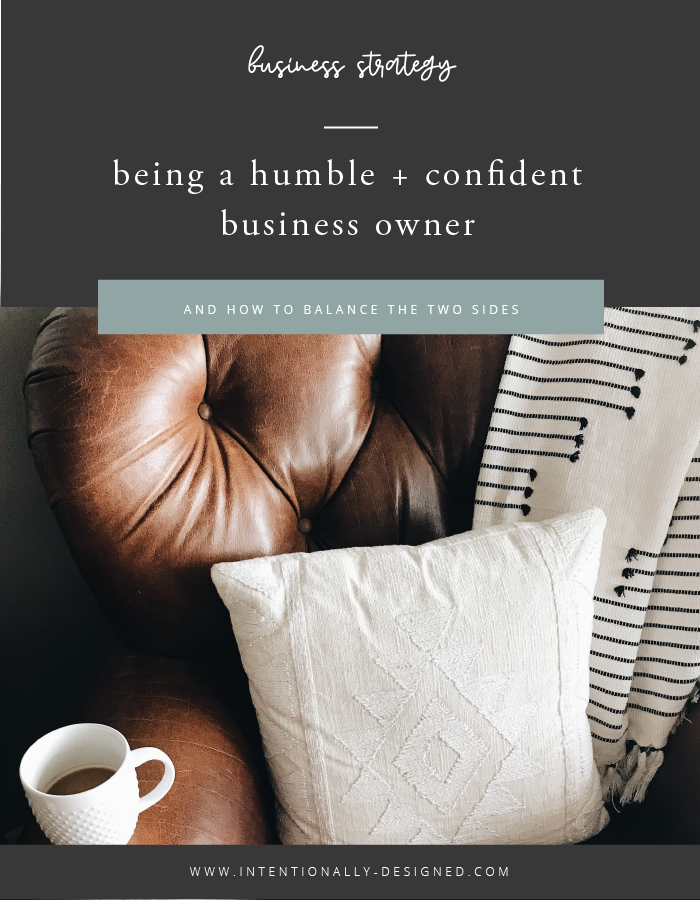 humble confident business owner
