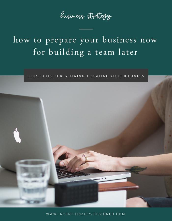 prepare business for team