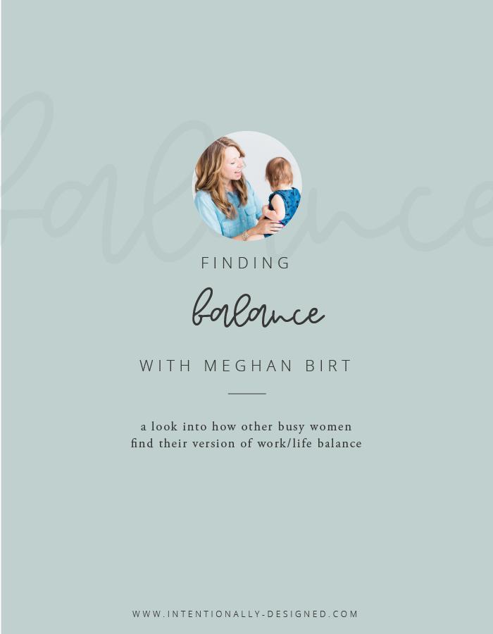 Finding Balance Series Meghan Birt