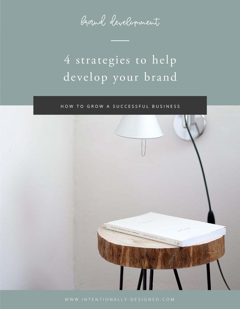 4 strategies to develop brand