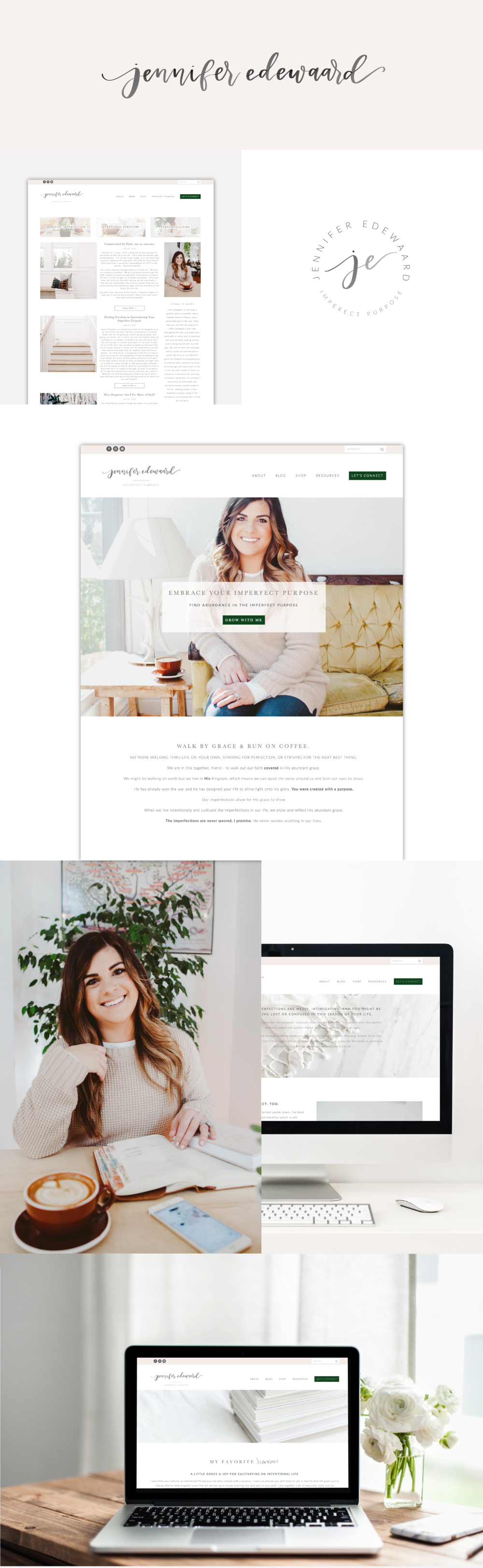 Jennifer Edewaard Website Design