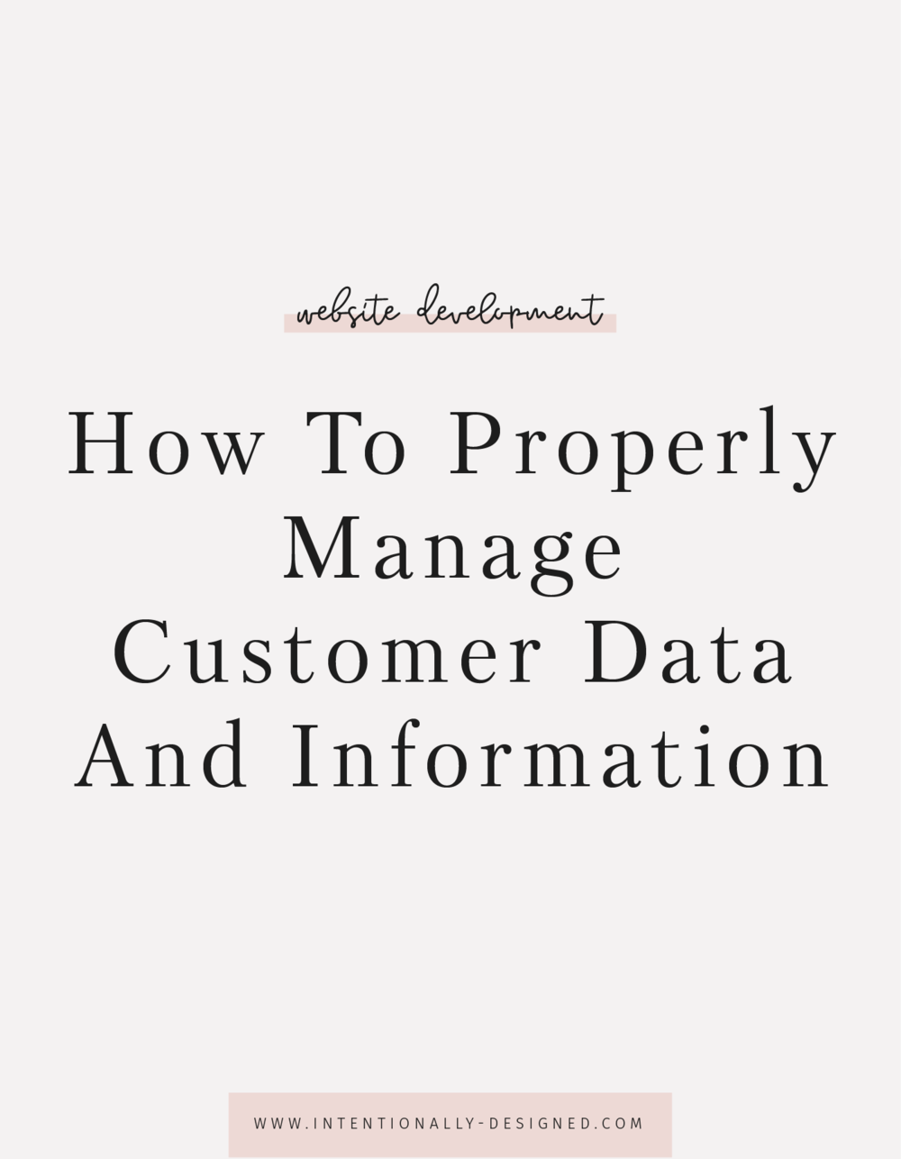 manage customer data
