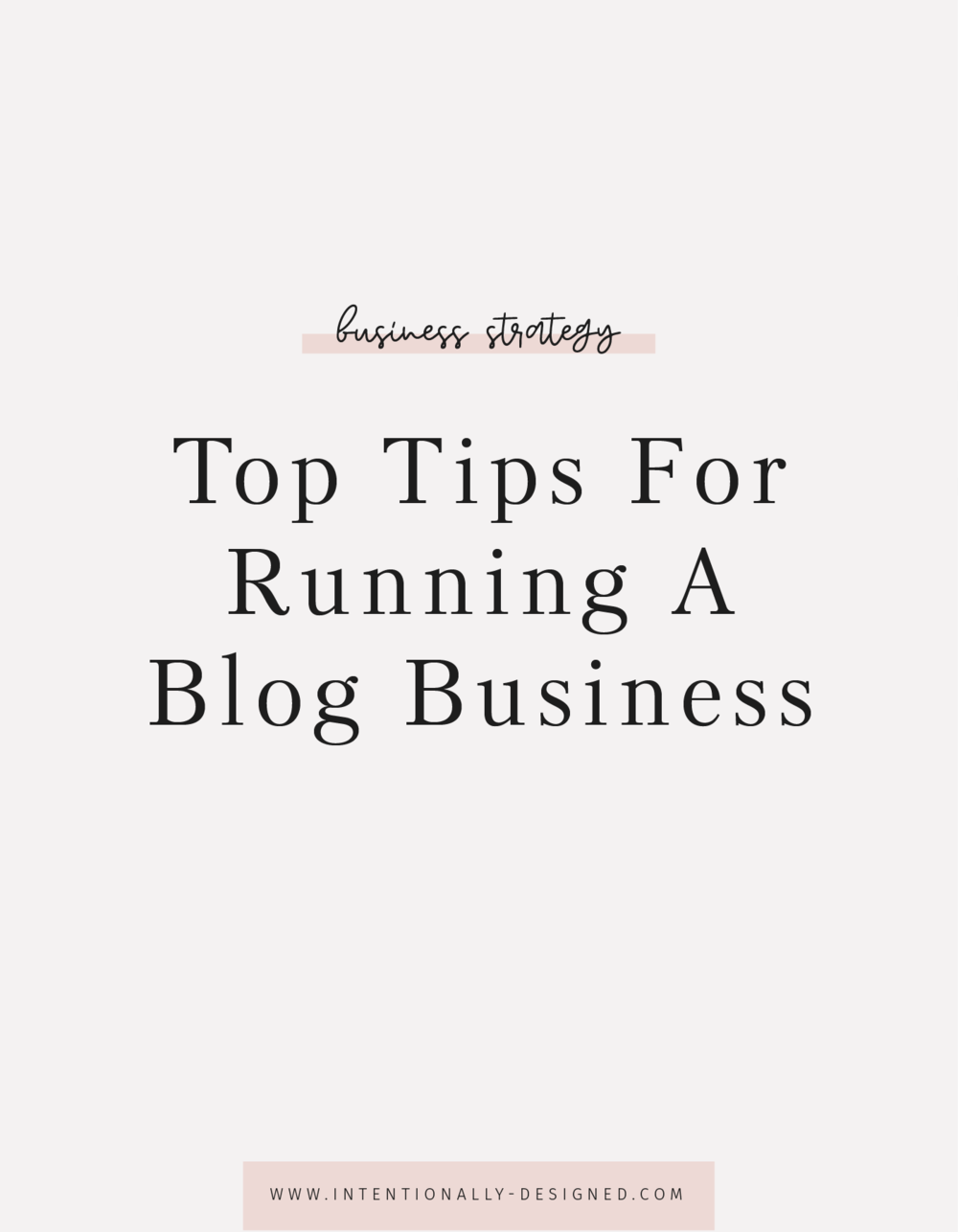 running a blog business