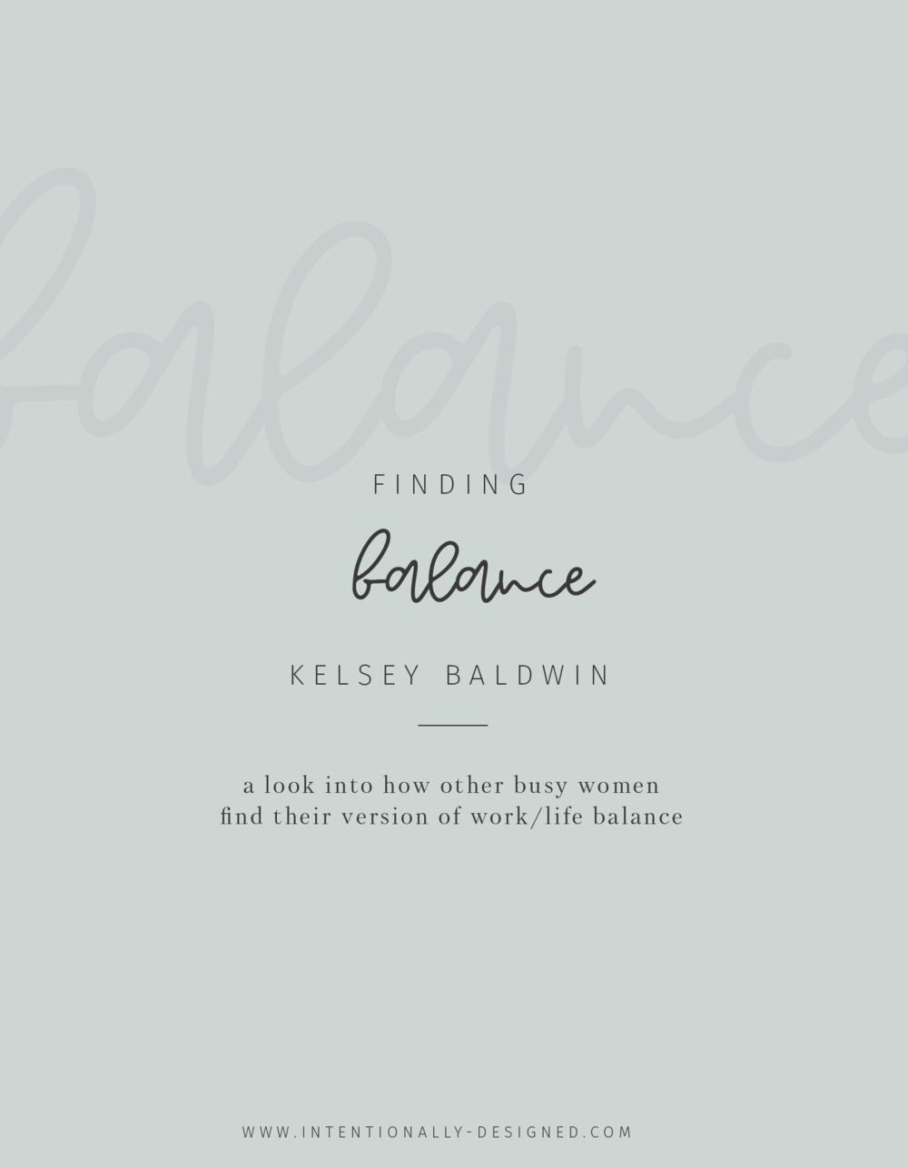 Finding Balance with Kelsey Baldwin