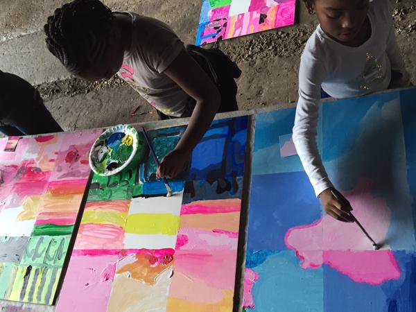 Pullman Yard painters hard at work!