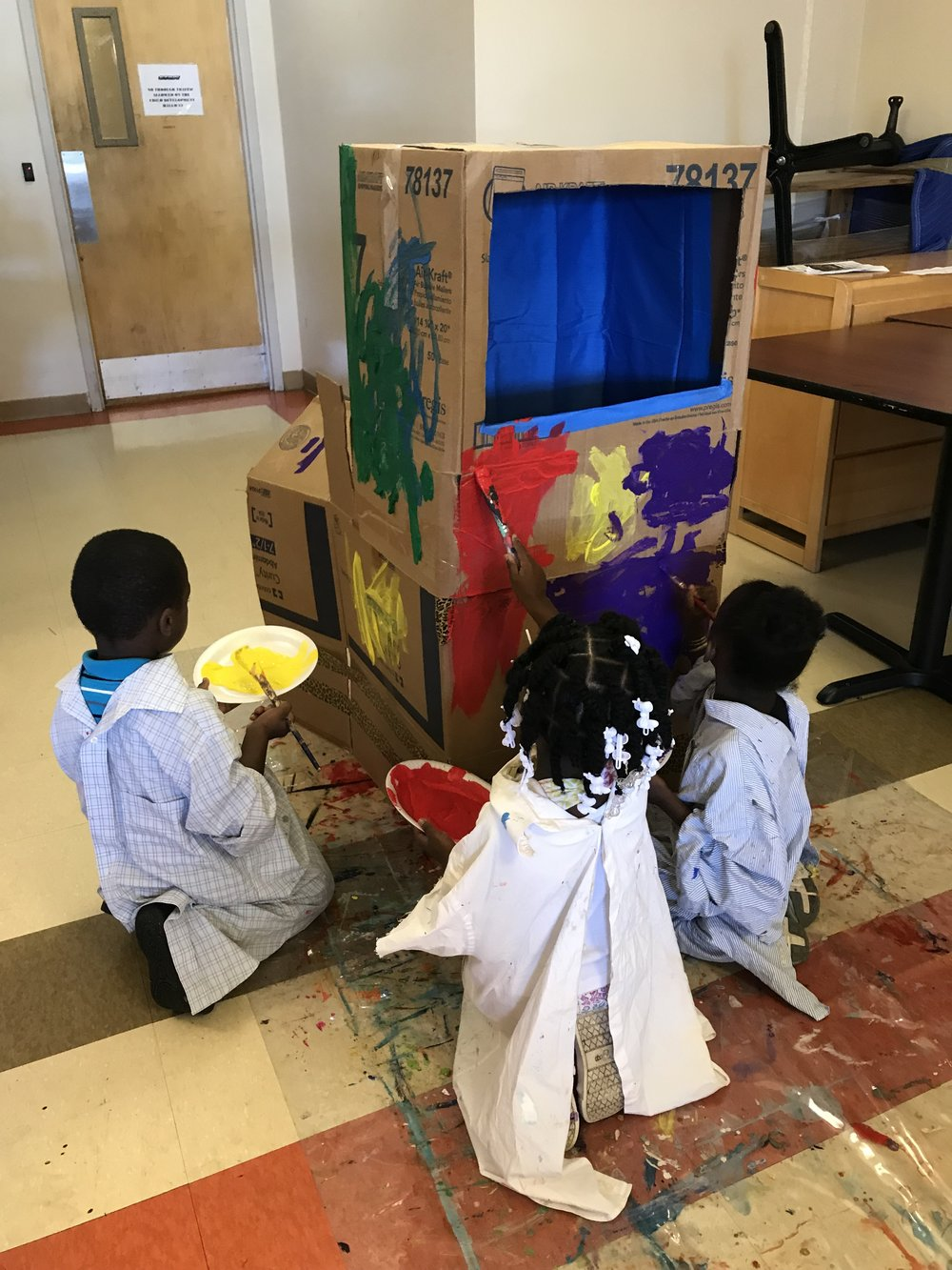 Paint Love puppet show project for social emotional learning