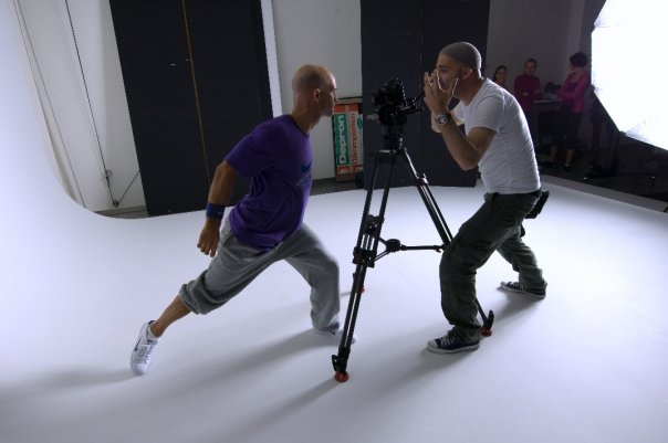 Directing a photoshoot for Nike
