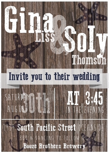 This is a wedding invitation I designed.