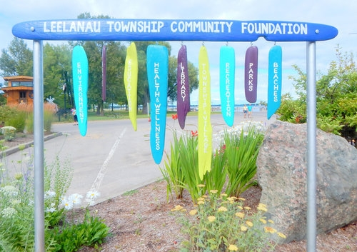 Created for the foundation's 70th year celebration, artist Julie Glidden captured the many areas of community interest that the foundation has supported since it was founded in 1945.