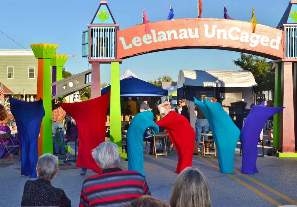 The annual street festival, Leelanau UnCaged, an event the LTCF is proud to sponsor. Photography by Cheryl Parker.