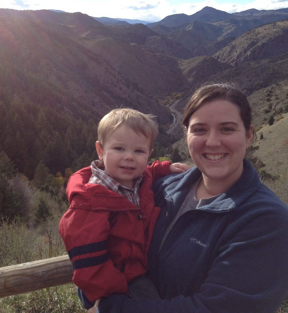 Becky + son Blake in the Rocky Mountains