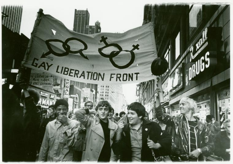 Gay Liberation Front marches on Time Square, NY, 1969.jpg