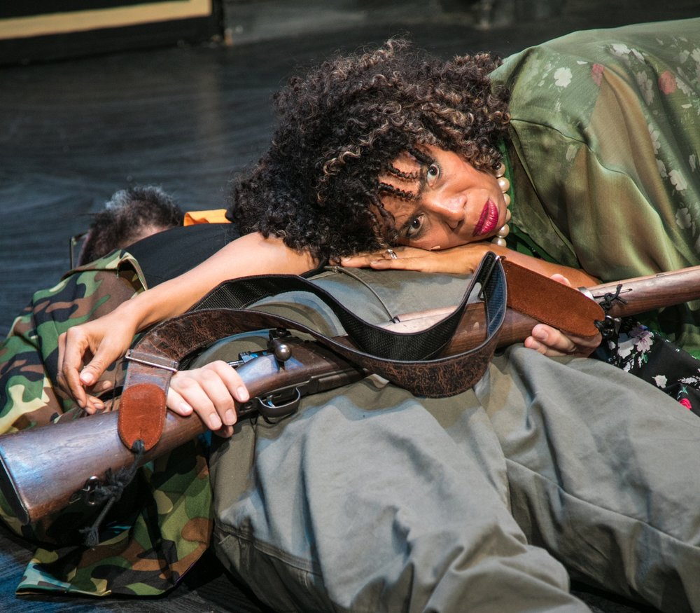 """Shotgun's daring    Black Rider    aims for, and pierces, the American heart... Disaster is the governing spirit for Burroughs, Tom Waits, and Robert Wilson in their neo-Brechtian musical,     which gets an acid-soaked reworking under Mark Jackson's inspired direction... To see the cast lined up on the stage is to see America: every race, an array of ages, small and tall, the bald and the hirsute. There's a joyous democratic spirit present... The production is truly post-traumatic, a show fueled by the shock and desperation of knowing that you have shot a gun, that you have enjoyed hearing the crack of the bullet, and that when the smoke has cleared, you have murdered someone you loved. It's quite a message for a show and production of such stunning grace and pleasure.""     KQED.ORG"